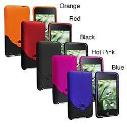 Snap-on Rubber-coated Plastic Case for Apple iTouch Gen 2G/ 3G