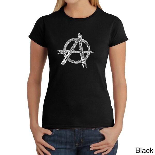 Los Angeles Pop Art Women's 'Anarchy Punk Rock' T-shirt
