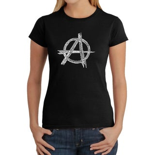 Los Angeles Pop Art Women's 'Anarchy Punk Rock' T-shirt