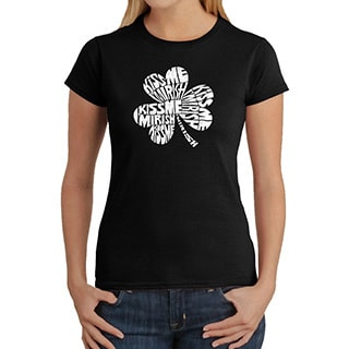 Los Angeles Pop Art Women's 'Kiss Me, I'm Irish' T-shirt