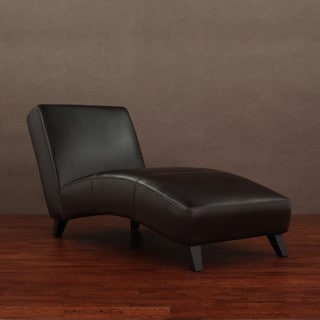 Cleo Dark Brown Leather Chaise