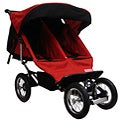 BeBeLove Double Jogging Stroller in Red