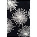 Handmade Soho Burst Black New Zealand Wool Rug (2' x 3')
