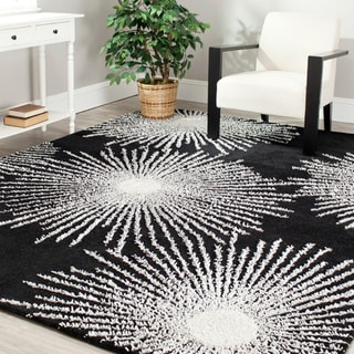 Safavieh Handmade Soho Burst Black New Zealand Wool Rug (3'6 x 5'6)