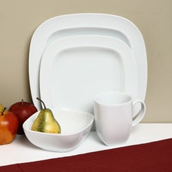 Denby White Square 16-piece Dinnerware Starter Set