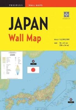 Periplus Wall Maps Japan (Sheet map, folded)