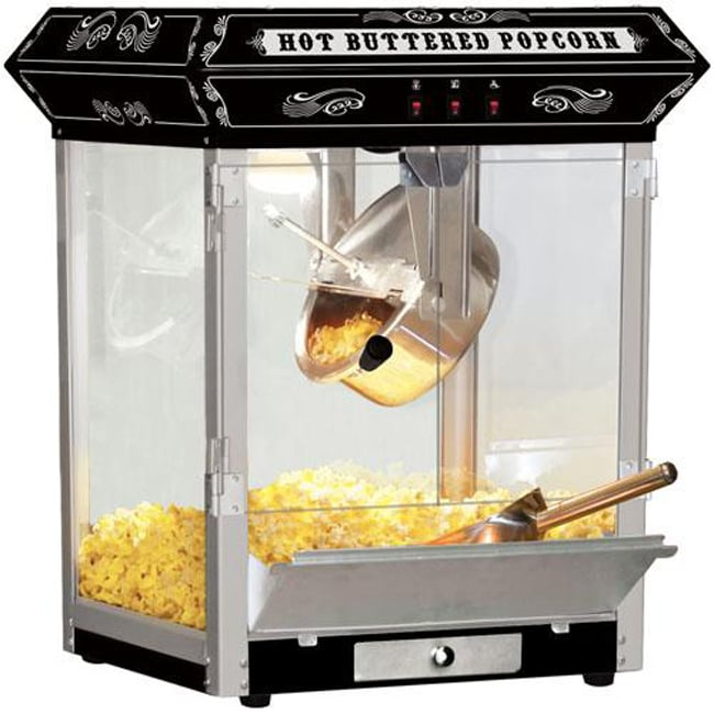 Carnival-style 8-oz Hot Oil Popcorn Machine