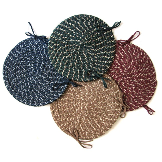 Chatsworth Reversible Braided Chair Pads (Set of 4)