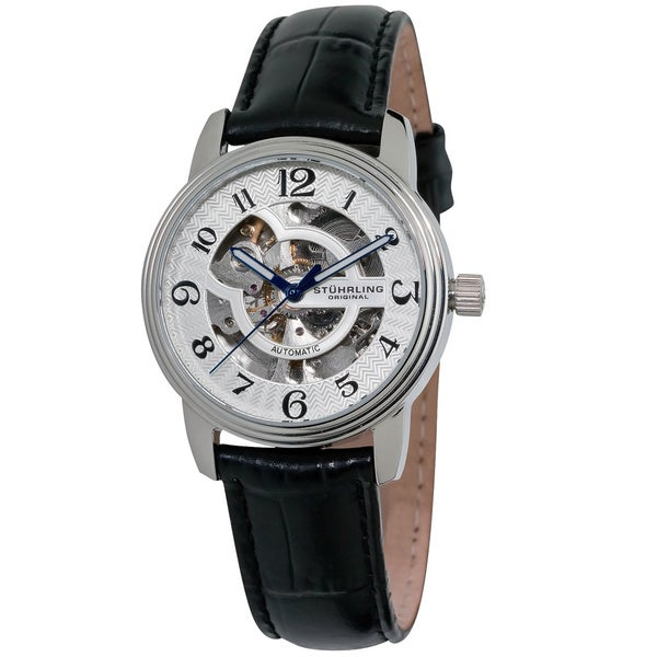 Stuhrling Original Women's Othello Large Skeleton Automatic Watch
