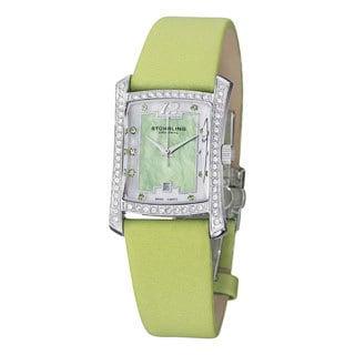 Stuhrling Original Women's Gatsby Girl Green Strap Crystal Watch