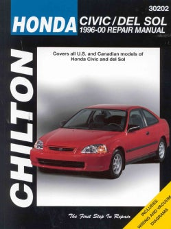 Chilton's Honda Civic and Del Sol 1996-00 Repair Manual: Covers All U.S. and Canadian Models of Honda Civic and D... (Paperback)