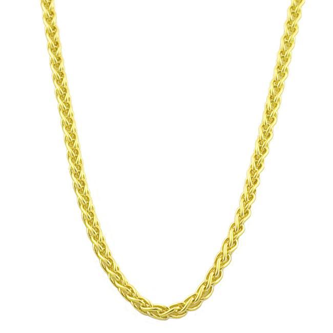Fremada 18k Yellow Gold 18-inch Round Wheat Chain (0.8 mm)