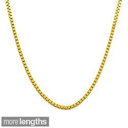 Fremada 18k Yellow Gold Box Chain (16 inches to 18 inches)