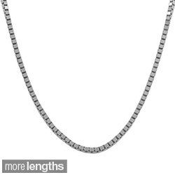 Fremada 18k White Gold Box Chain (16 inches to 20 inches)