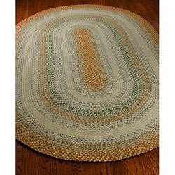 Handwoven Contemporary Indoor/Outdoor Reversible Multicolor Braided Rug (3' x 5' Oval)
