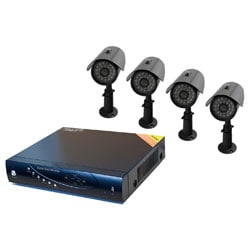 Aposonic A-BR1B4-C250 4CH Full D1 Video/Audio Input DVR with 4 Cameras & 500GB