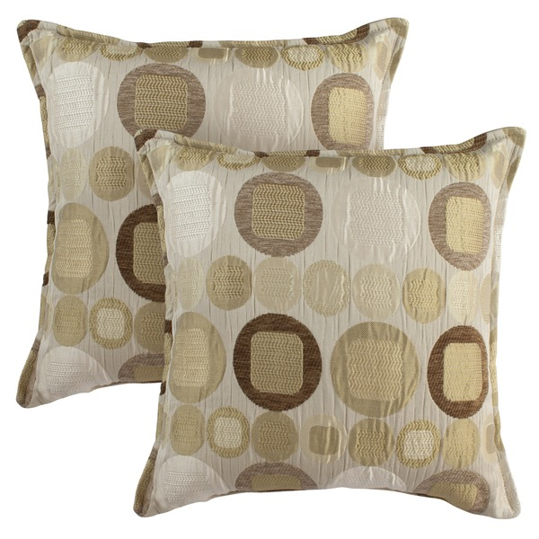 Sherry Kline 18-inch Metro Taupe Pillows (Set of 2)