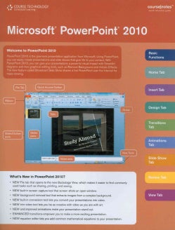 Microsoft Office Powerpoint 2010 Web Application Coursenotes (Wallchart)