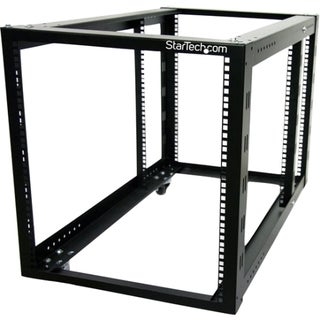 StarTech.com 12U 4 Post Server Equipment Open Frame Rack Cabinet w/ A