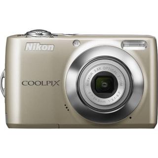 Nikon Coolpix L22 12 Megapixel Compact Camera - Champagne Silver