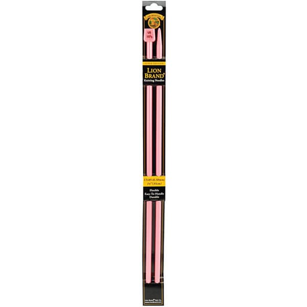 Lion Brand Size 10.5 Pink Knitting Needles