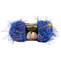 Lion Brand 39-yard Brilliant-blue 'Fancy Fur' Multicolor Yarn Skein