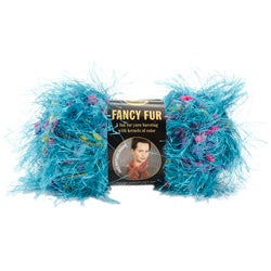 Lion Brand Tropical Turquoise Fancy Fur Yarn