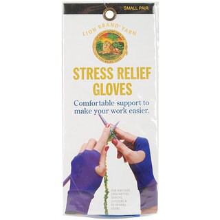 Lion Brand Small Stress Relief Knitting Gloves