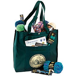 Lion Brand Green Yarn Tote Bag