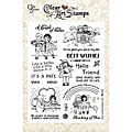 Crafty Secrets 'Couple of Cuties' Large 8x6-inch Stamp Set