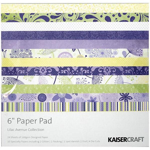 Kaisercraft 'Lilac Avenue' 6-inch Square 24-sheet Paper Pad