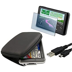 INSTEN TomTom/ Garmin Eva Phone Case Cover, Screen Protector and USB Cable