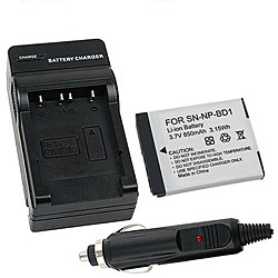 Sony Cybershot T70 / T200 Li-Ion Battery and Charger Set