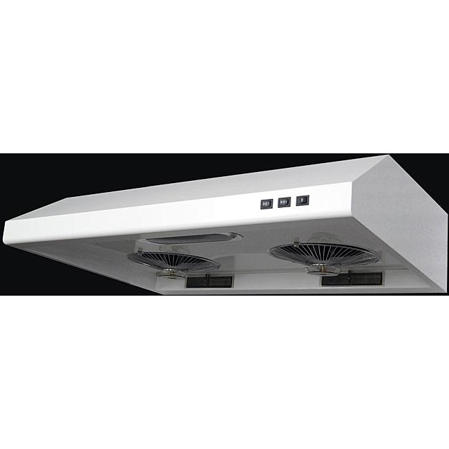 White Stainless Steel 36-inch Under-cabinet Range Hood