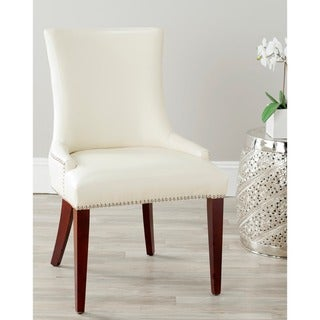 Becca Cream Leather Dining Chair