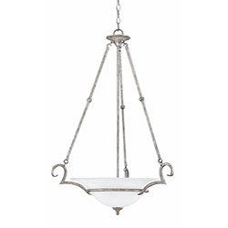 Dalton Silver Slate Finish 3-light Inverted Pendant
