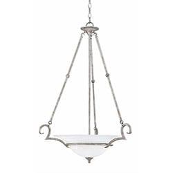 Dalton Silver Slate Finish 3-light Inverted Pendant