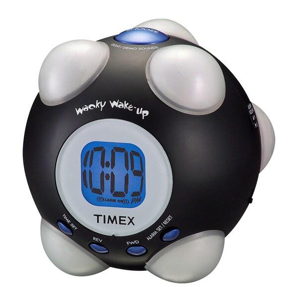 TIMEX T156BX Shake 'n' Wake Black Alarm Clock 6394556