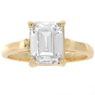 NEXTE Jewelry 14k Gold Overlay Emerald-cut Cubic Zirconia Solitaire Ring