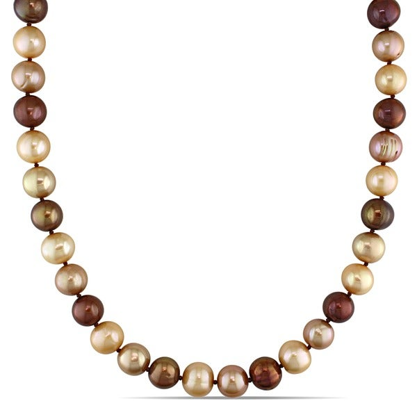 M by Miadora Multi-colored Cultured Freshwater Pearl Strand (9-10 mm)