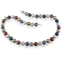 Miadora Multi-colored FW Pearl Necklace (9-10 mm)