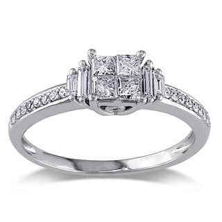 Miadora 14k White Gold 1/2ct TDW Diamond  Ring (H-I, I1-I2)