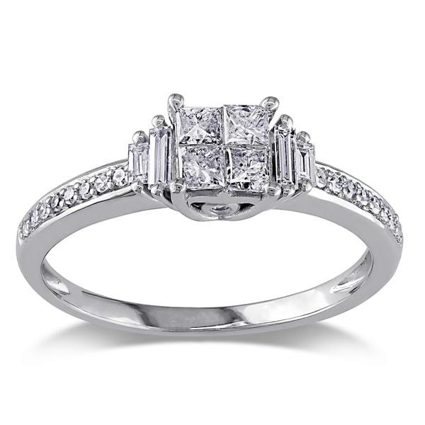 Miadora 14k White Gold 1/2ct TDW Diamond Ring (H-I, I1-I2)