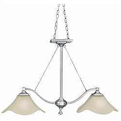 Monroe Satin Pewter 2-light Island-style Pendant Light