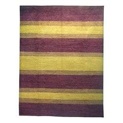 Afghan Hand-knotted Vegetable Dye Wool Rug (9' x 12')
