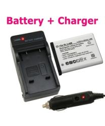 INSTEN Nikon Coolpix S220-Compatible Lithium-Ion Battery with Charger