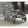 Black and White Wing Recliner