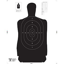 Hoppes Police Silhouette NRA Paper Targets (Pack of 100)