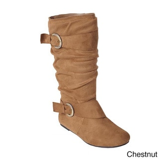 Glaze by Adi Women's Faux Suede Slouchy Boot