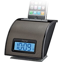 iHome Black iP11 Spacesaver Alarm Clock with iPod/iPhone Dock